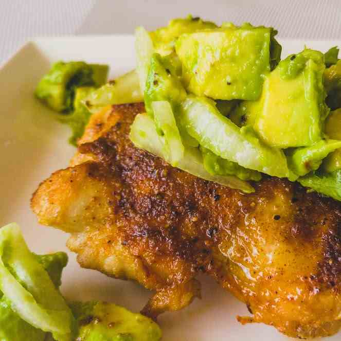 Chili Spiced Chicken with Avocado