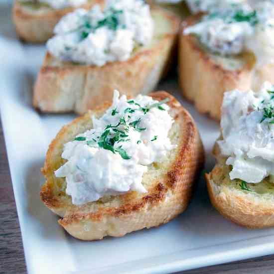 Chicken Salad Crostini