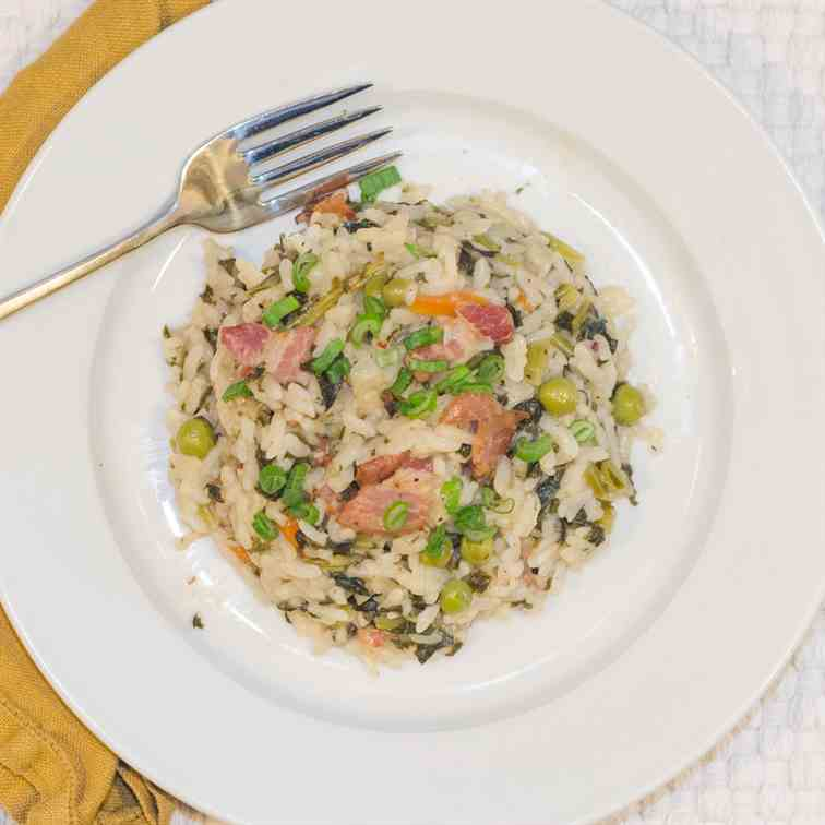 Risotto with Pancetta and Kale