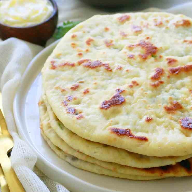 Cauliflower Stuffed Naan