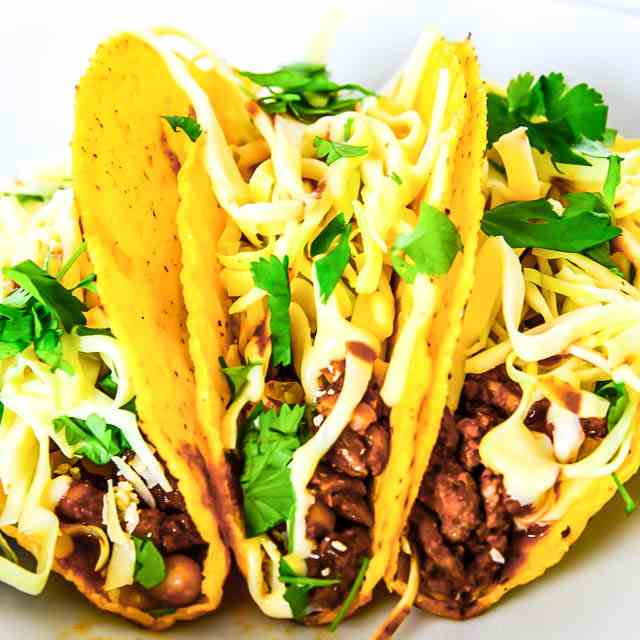 Spiced Lamb and Bean Tacos