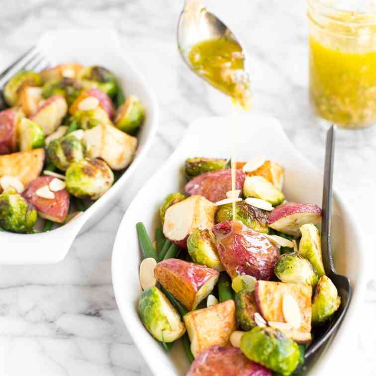 Roasted Brussels Sprouts Salad with Dijon