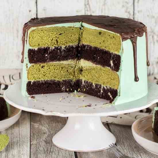 Chocolate Green Tea Cake