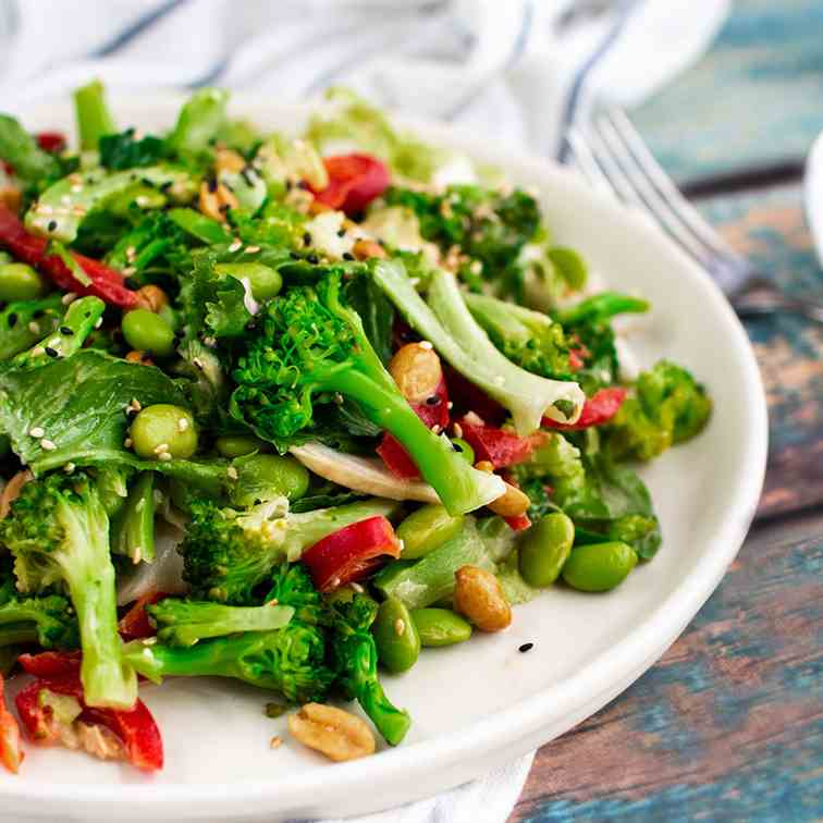 Broccoli and edamame salad