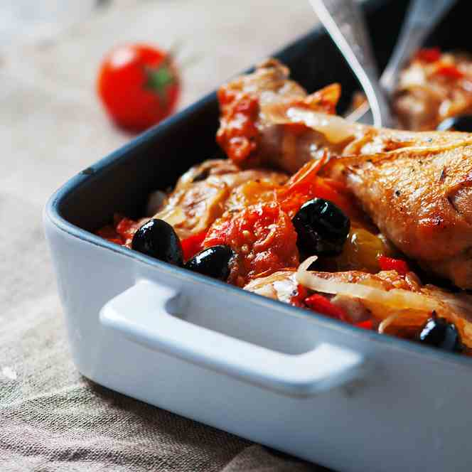 Frugal Meal- Spanish Tray Bake Chicken