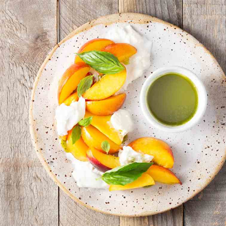 Macerated Peach - Burrata Salad