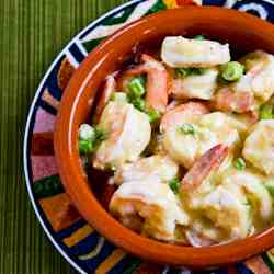 Shrimp with Mustard-Horseradish Sauce