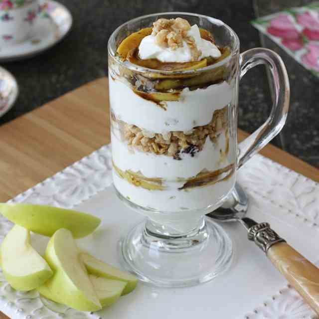 Caramelized Apple, Yogurt, Granola Parfait