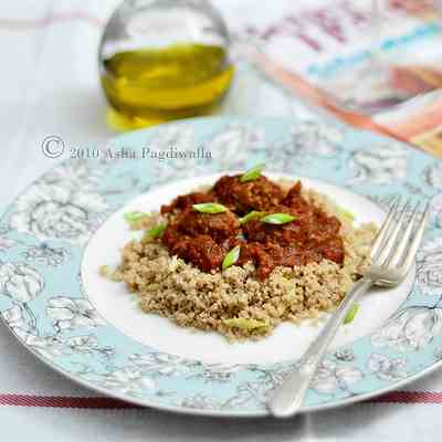 Spelt Couscous with Meatballs and Sauce