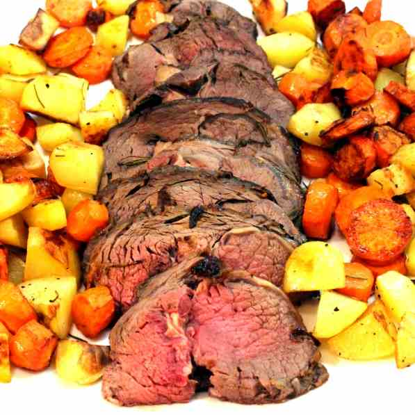 Beef Roast with Red Wine reduction
