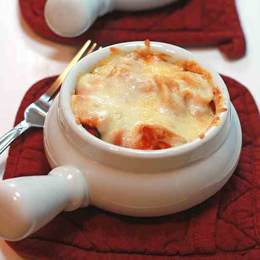 Baked Tortellini with Rose Sauce