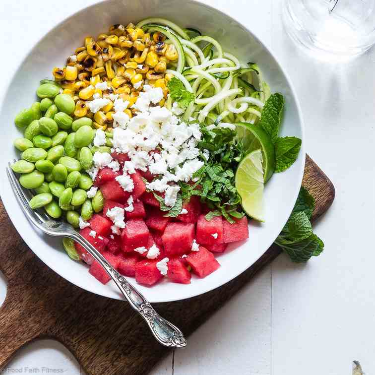 Maple Lime Watermelon Zoodle Bowl