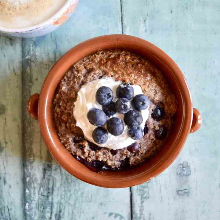 Blueberry Cinnamon Baked Oats