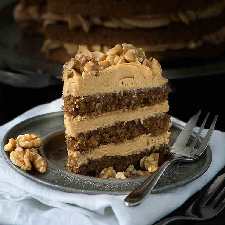 Coffee - Walnut Cake