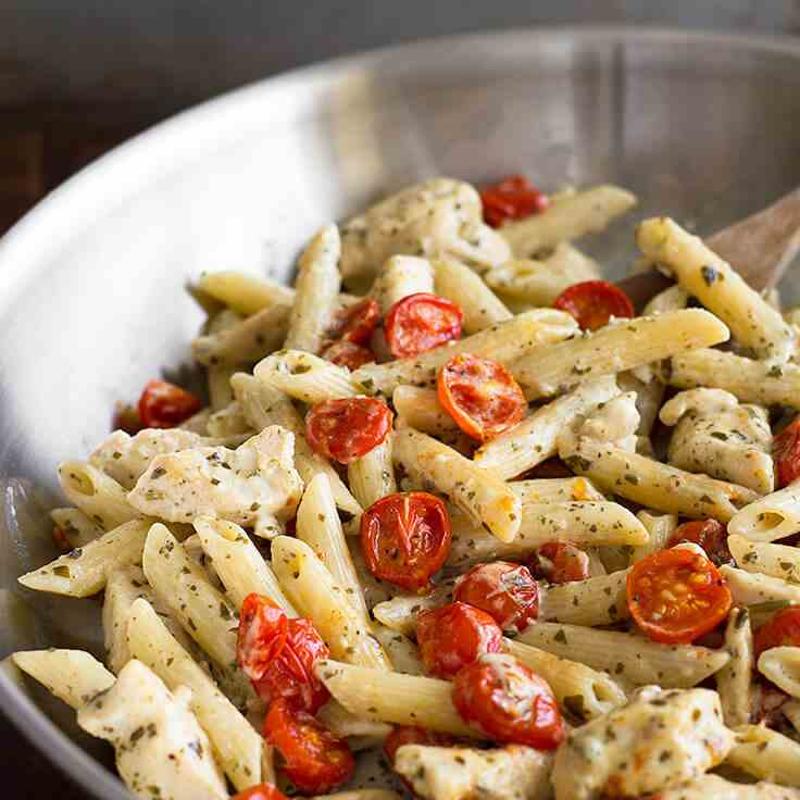 Easy Pesto Chicken Pasta for Two