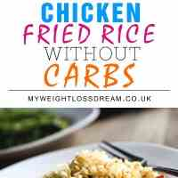 My Cheats Carb Free Chicken Fried Rice Rec