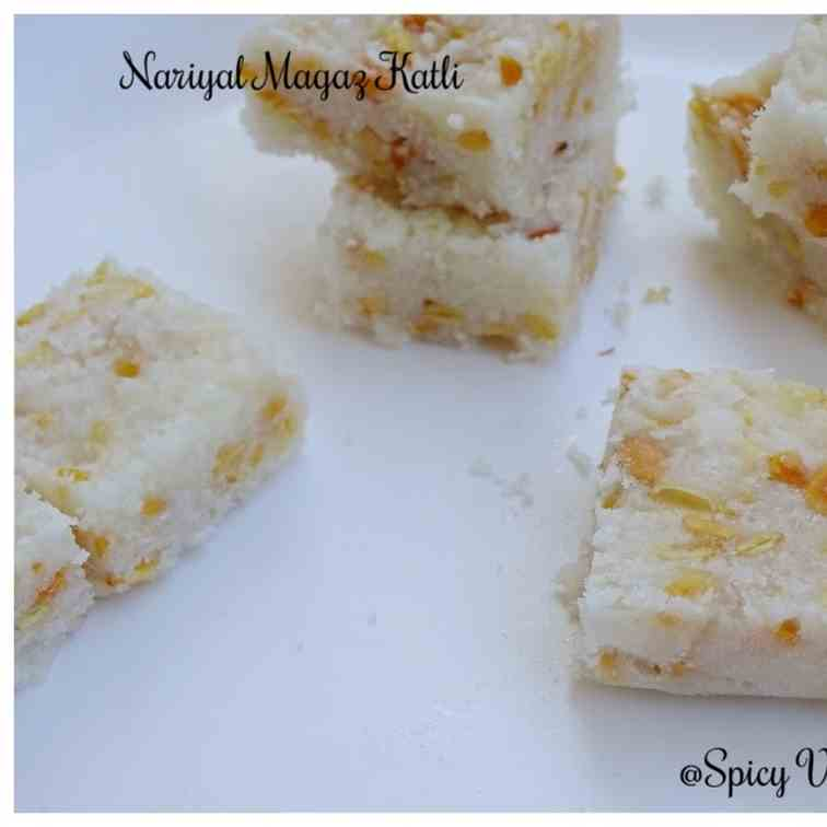 Coconut and Melon seeds Katli