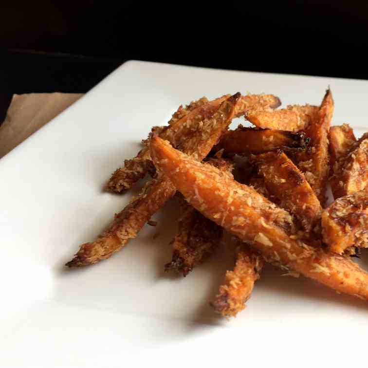 Baked Coconut Cinnamon Sweet Potato Fries