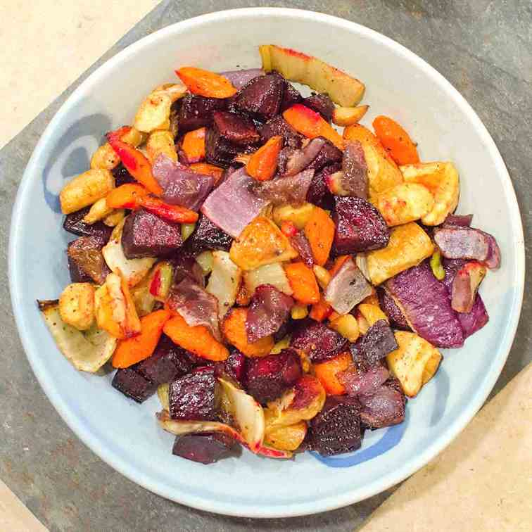 Oven Roasted Root Vegetables