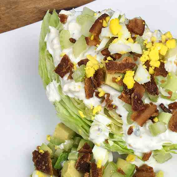 Easy Wedge Salad with Homemade Blue Cheese