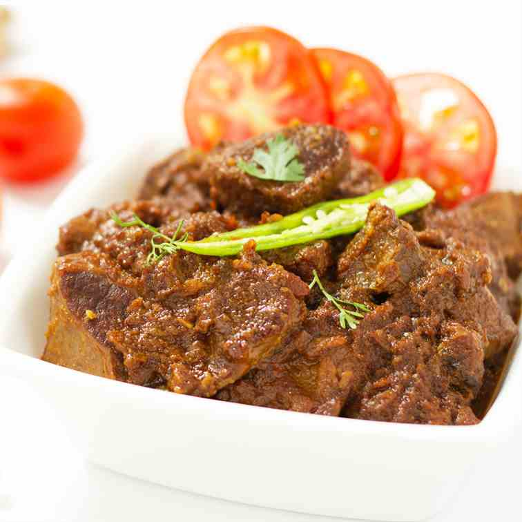 Bhuna Gosht  -Pan fried meat in spices