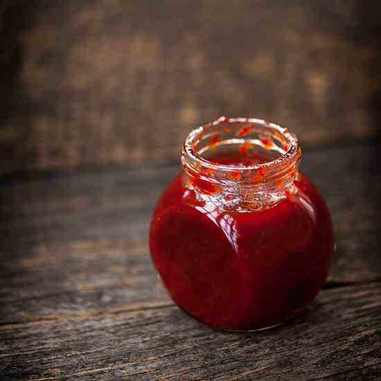 Red chili peppers jam