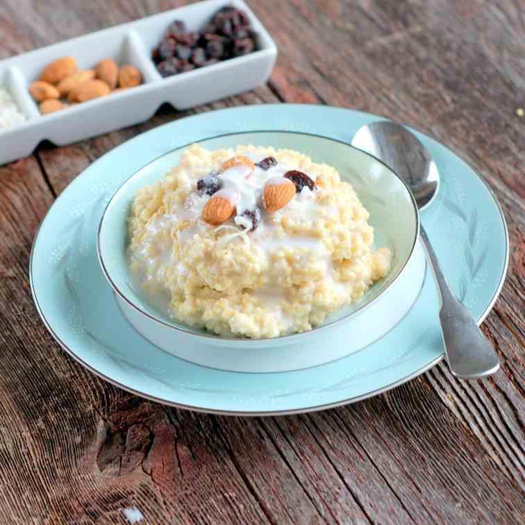 Coconut Millet Breakfast Porridge