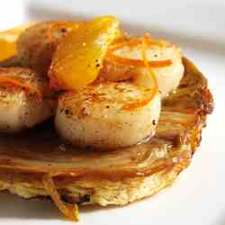 Mandarin Oil Scallop and Chicory Tatin