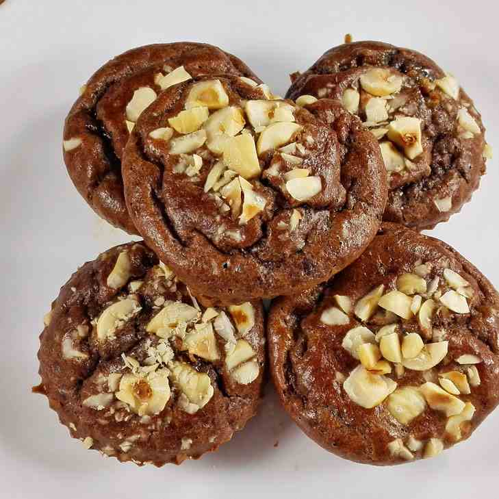 Flourless Paleo Banana Chocolate Muffins