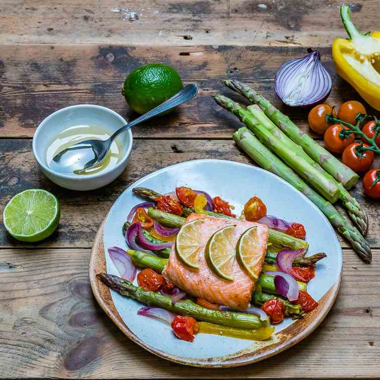 Baked Salmon And Veggies
