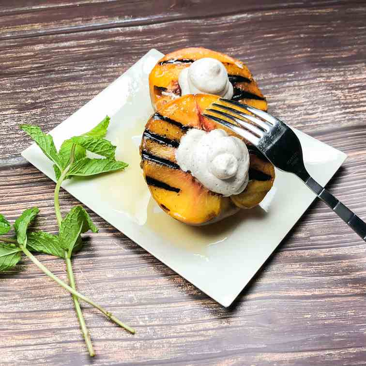 Grilled Bourbon Cinnamon Peaches