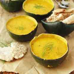 Harissa Spiced Gem Squash Soup