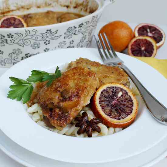 Blood Orange Braised Chicken
