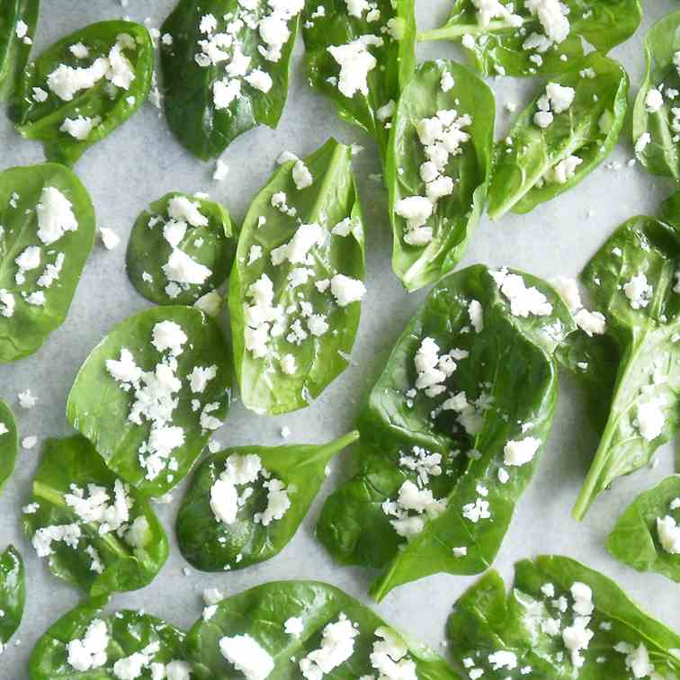Spinach and feta chips