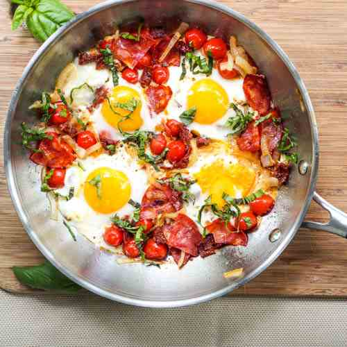 Chorizo Breakfast Egg Skillet