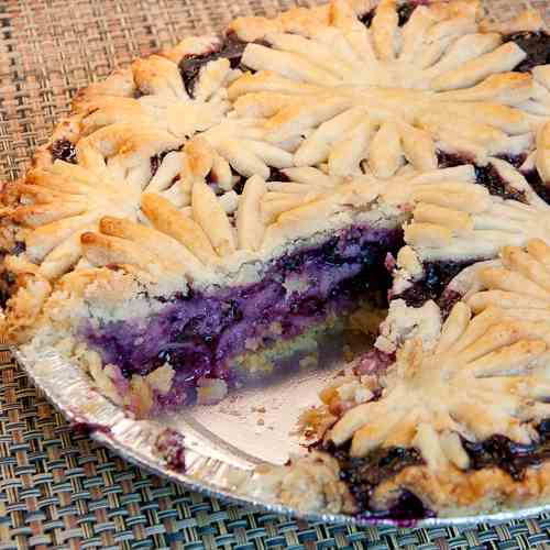 Blueberry Goat Cheese Pie