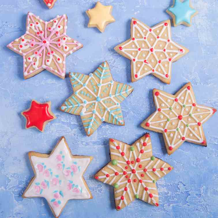 Christmas Star Sugar Cookies
