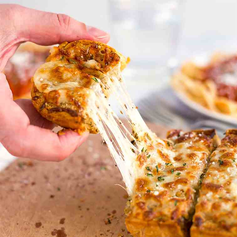 Homemade Three Cheese Garlic Bread