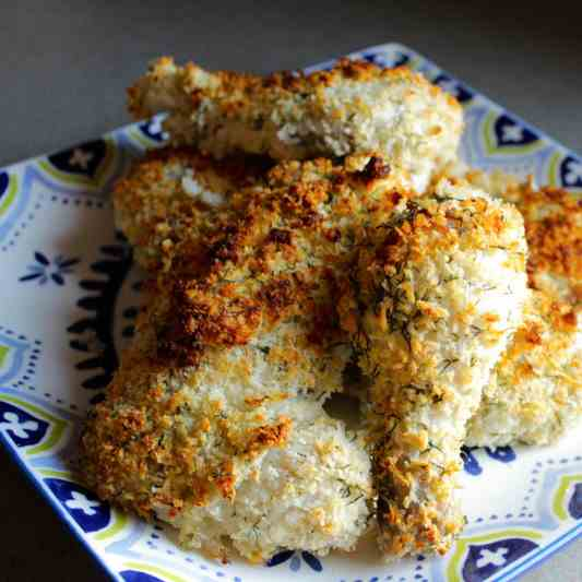 Panko Crusted Oven Fried Chicken