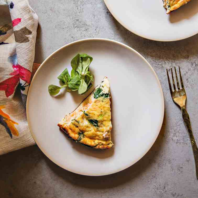 Smoked Salmon, Spinach and Dill Frittata