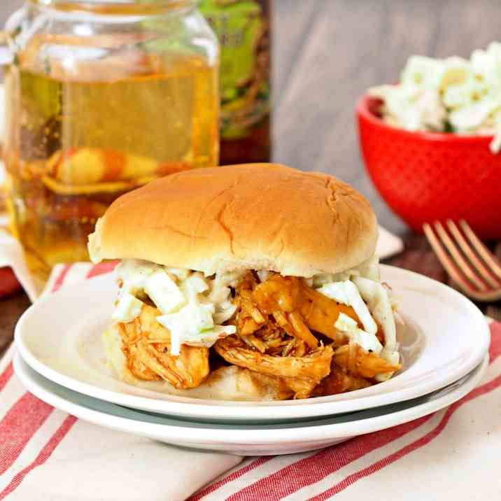 Hard Apple Cider BBQ Chicken Sandwiches