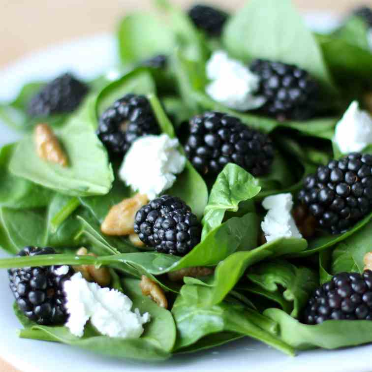 Spinach Blackberry Goat Cheese Salad