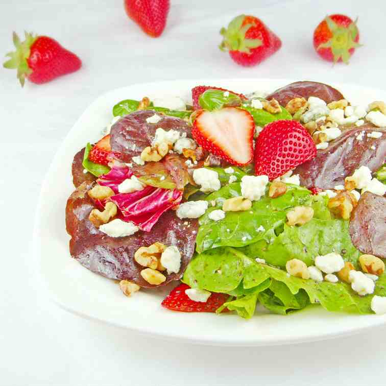 Spring Greens and Strawberry Salad