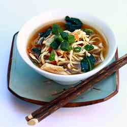 Chicken Miso Soup with Ramen Noodles