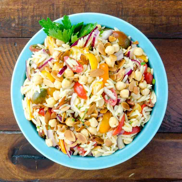 Chickpea, Tomato and Orzo Salad