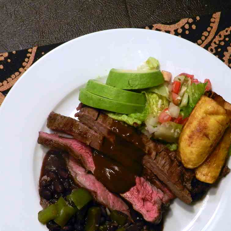 Flank Steak With Mole Sauce
