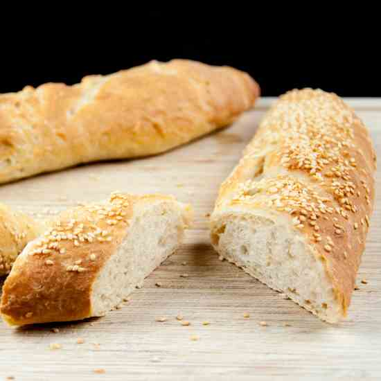Freshly Baked French Baguettes