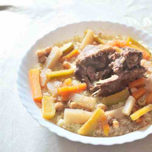 Couscous with Meat - Vegetables