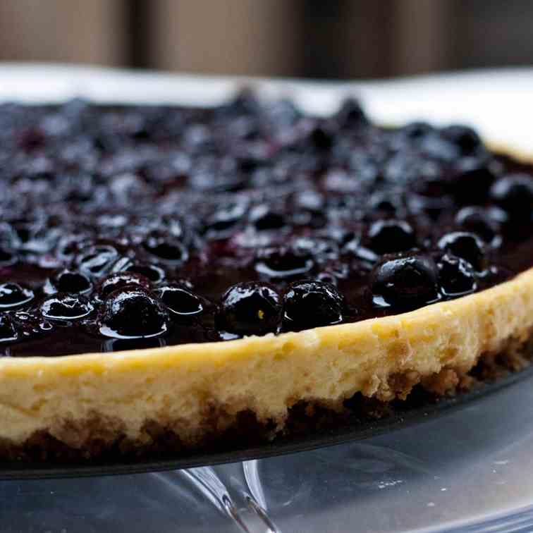 Crème Fraiche Cheesecake with Blueberry To