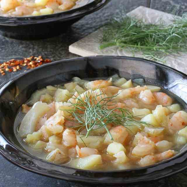 Shrimp, Potato & Fennel Chowder